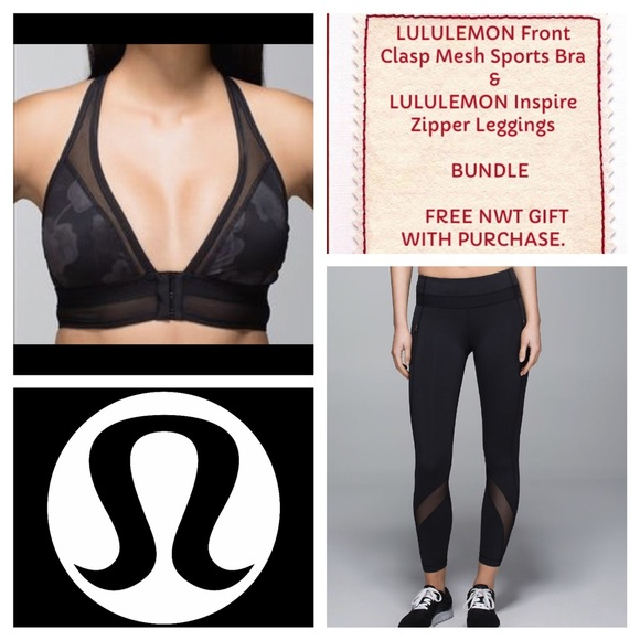 bc4450b105 lululemon athletica Pants - LULULEMON Mesh Sports Bra and Leggings Bundle